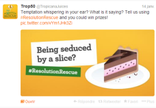 Trop50 : tweetez la bonne résolution que vous êtes sur le point d'abandonner